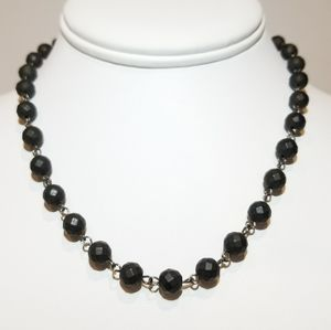 Jewelry - SALE !! Black Faceted Hematite Chain Necklace NEW